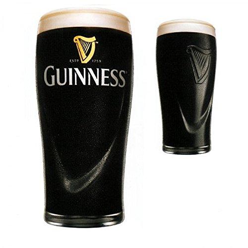 6 Biergläser (Half Pint, Stielglas-Guinness beer cl. 25.