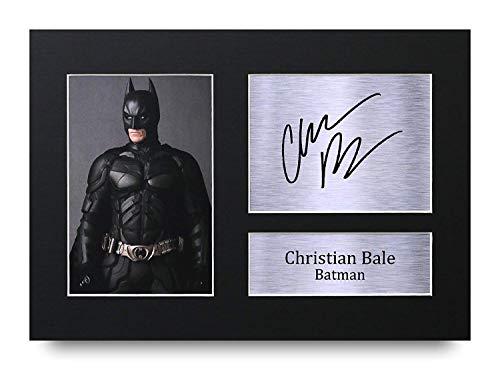 HWC Trading Christian Bale A4 Ungerahmt Signiert Gedruckt Autogramme Bild Druck-Fotoanzeige Geschenk Für Batman The Dark Knight Filmfans