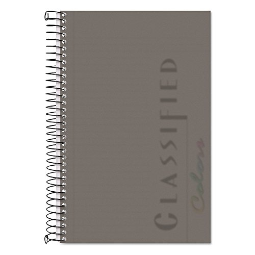 TOPS Classified Business Notebook, 5.5 x 8.5-Inch, College Rule, 100 Sheets per Book, Graphite Plastic Cover (73507)