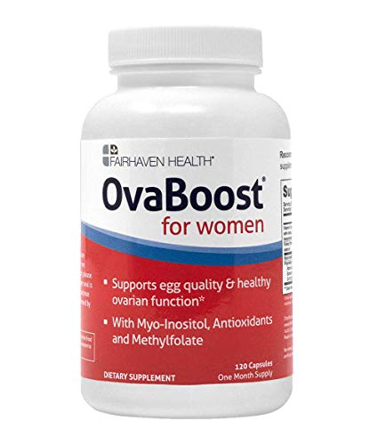 OvaBoost Fertility Supplement for Women With Myo-Inositol, Folate, CoQ10, Antioxidants and Vitamins to Support Female Ovulation & Egg Quality, Hormone Balance, Cycle Regularity