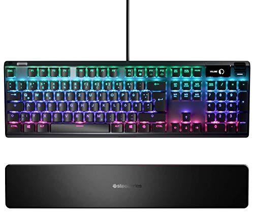 SteelSeries Apex Pro – Mechanische Gaming-Tastatur – Mechanischen Tasten mit anpassbarer Betätigung – OLED Smart Display – Deutsches Tastatur (QWERTZ) - Standard - Layout
