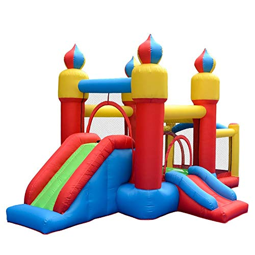 Review KMCMYBANG Kids Bouncy Castle Inflatable Bouncing Castle with Trampoline Fun Bounce House Slid...