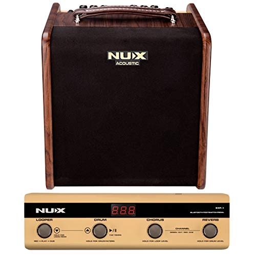 Great Features Of NUX Stageman 50 Watt Acoustic Guitar Amplifier with Bluetooth Control Pedal, Built...
