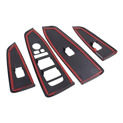 4pcs / Set ABS Interior de la puerta del coche Ventana del panel de elevación Cubierta de la decoración Ajuste, para Kia Forte K3 2019 2020 Solo volante a la izquierda