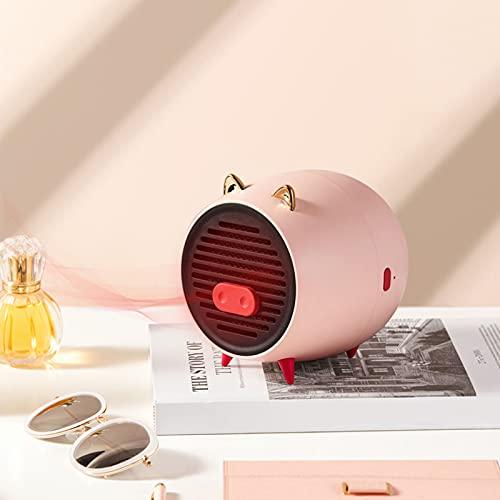 HAPPY-BELT Mini Termoventilatore, Termostato con Protezione Contro Il Surriscaldamento, Portatile Riscaldatore per Bagno Interno Corridoio Camera da Letto
