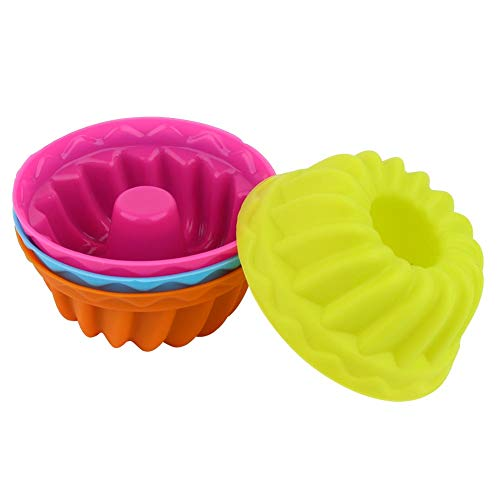 Mini Pumpkin Muffin Molds Cake Mold 12Pcs Silicone Baking Cups Nonstick for Christmas Cake for Jelly