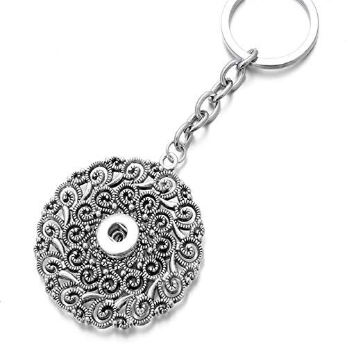Llavero de metal con forma de círculo redondo para colgar llaves juntas para hombres, coche o mujer (color: 1,2 cm)