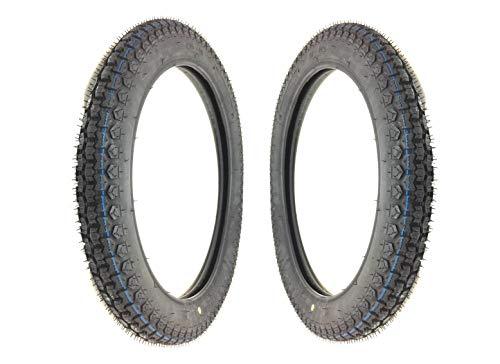 2x Kenda Reifen Set K254 2,75x17 (2 3/4 x 17 Zoll) für Hercules MK K KX Mofa