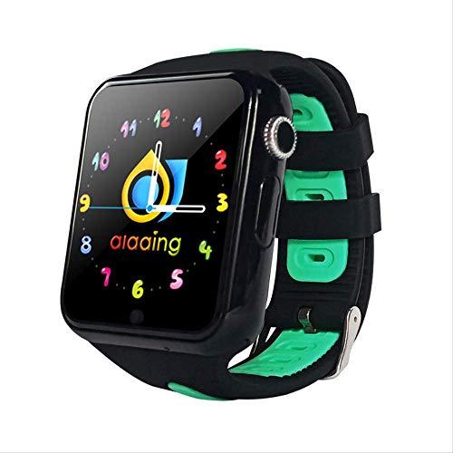 GYFKK Smart Watch Smartwatch Stand-alone Karte Anruf GPS Positionierung 1,54 Zoll Touchscreen Wasserdicht Unterstützung Multi-Chinesische Worte Multi-Country Schwarz und Grün