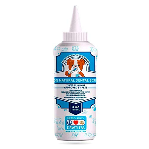 Pawtitas Natural Dog Toothpaste Powder Prevents Tartar Plaque Gum Disease Bad Breath a Natural Pet Dental Care and Breath freshener for Dogs 4 OZ Bottle
