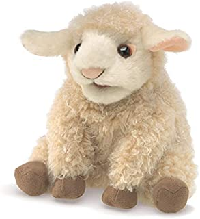 Folkmanis 3129 Small Lamb Hand Puppet, One Size, Multicolor