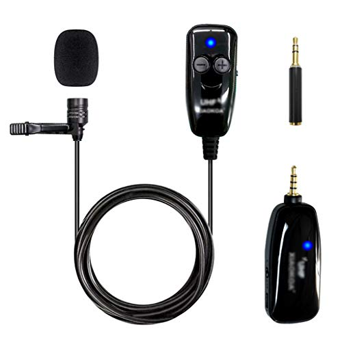 JJZXD UHF Wireless Microphone Recording Live Interview for PC Microphone Stable Signal, No Delay