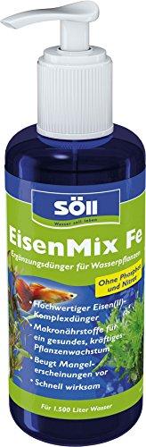Söll EisenMix Fe Aquarium Ergänzungsdünger für Wasserpflanzen Phosphatfrei und Nitratfrei, 250 ml