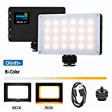 VILTROX LED On Camera Video Light, Portable Mini 8W/720LM CRI95+ Bi-Color 2500K-8500K Rechargeable 3000mAh Built-in Lithium Battery Professional Photography Lamp for Shooting YouTube Vlog Filming