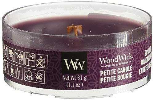 Woodwick Spiced Blackberry Petite Kerze