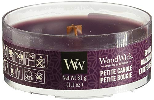 WoodWick 5038581054025 Candle Petite Spiced BlackBerry 66078E, one Size.