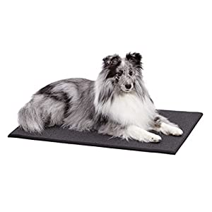 MidWest Homes for Pets MAT30 Cushioned Dog Crate Mat, Medium, Black