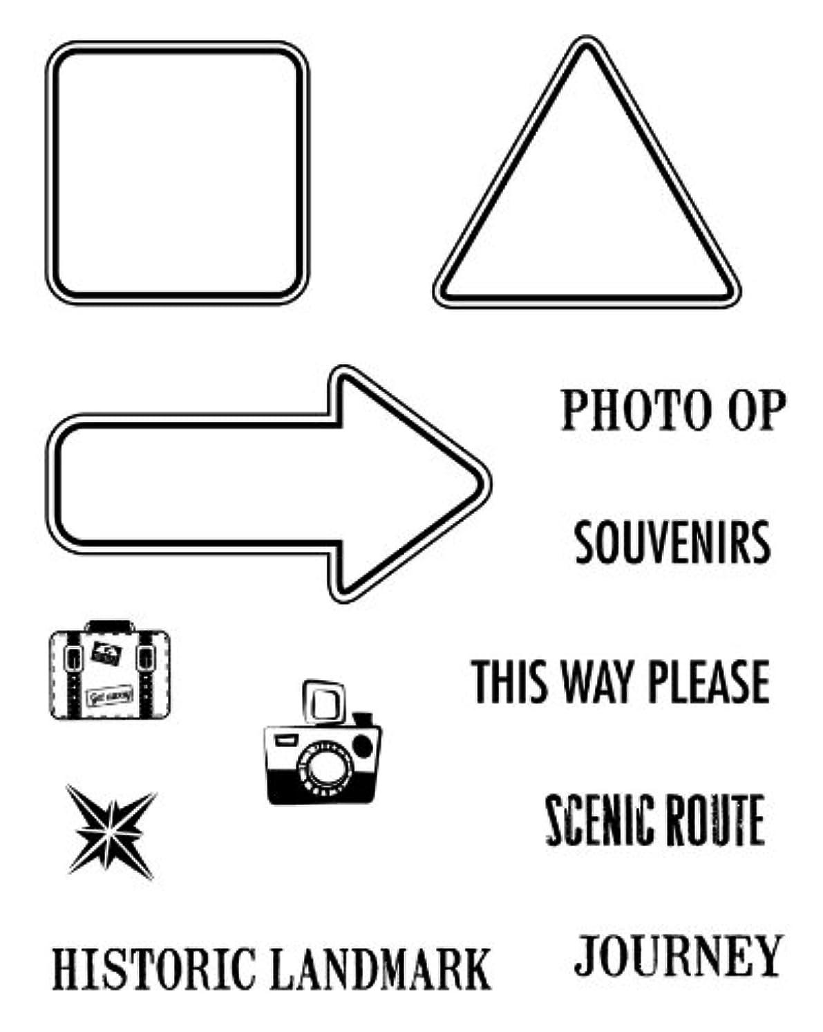 Karen Foster Design 02236, Clear Stamp Set, Road Signs 1