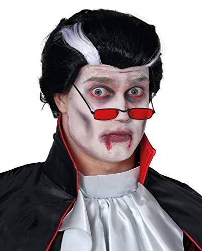 Vampier Pruik Zwart-wit