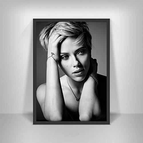 Canvastryck Sexiga Scarlett Johansson Affischer Film Hd Star Wall Art Heminredning Kanvasmålning Nordic Decoration Room Ramlös 50X70Cm -A410
