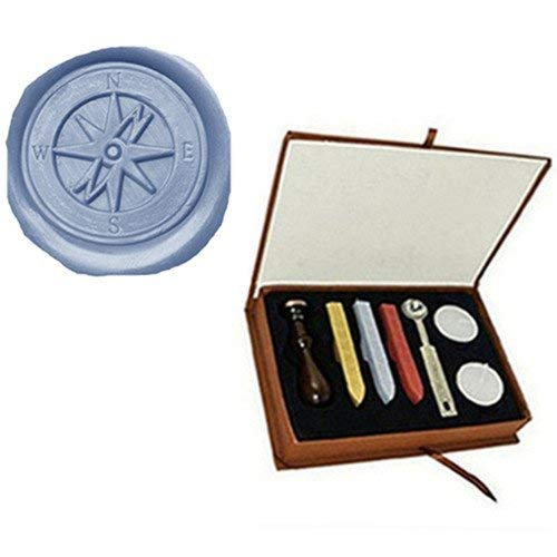 Vintage Cross kompas bruiloft uitnodiging op maat foto Logo Wax afdichting stempel Set Kit Box Kit Gold/Red/Silver