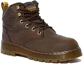 Dr. Martens Work Men's Plenum WP ST 6-Tie Boot Dark Brown 6 D UK