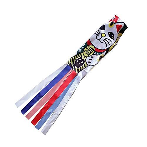 Cometa 140cm Carpa Japonesa Spray Manga De Viento Streamer Cometas Pez Bandera Koinobori Kite Dibujos Animados Pez Colorido Windsock Carpa Calcetín De Viento Bandera
