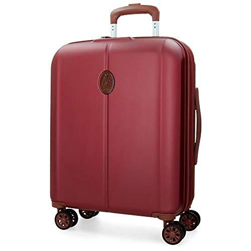 El Potro Ocuri Maleta de cabina Rojo 40x55x20 cms Rígida ABS Cierre TSA 37L 3,3Kgs 4 ruedas dobles Extensible Equipaje de Mano