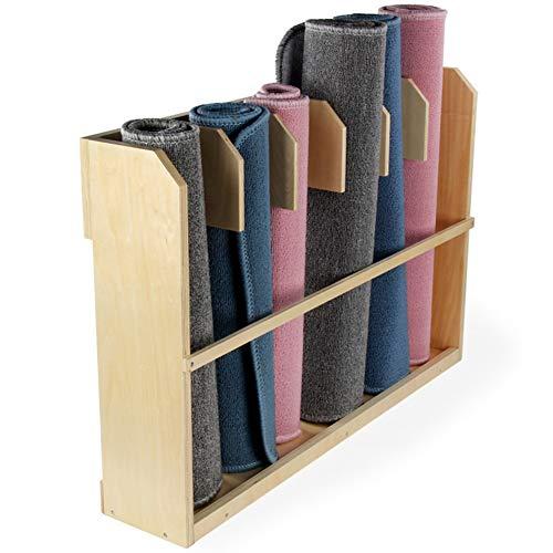 Wumudidi Holzspielzeug Rack Teppich Ständer, Schrank Montessori Kindergarten Speicher Arbeit Decke Rack, 23,6 * 33,8 * 7.9inch