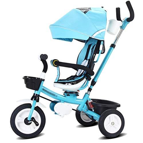 Xiaoyue Fahrräder Kinder Tricycle Jungen und Mädchen Fahrrad 3~10 Jahre alt Kinderfahrrad Kinderwagen Pram Fahrrad (Farbe: Blau, Größe: 75x50x60cm) lalay (Color : Blue, Size : 75x50x60cm)