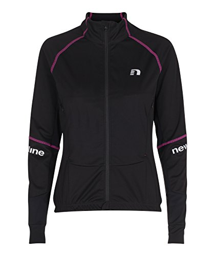NewLine Femme Bike Protect Jersey Maillot de Cyclisme à Manches Longues, Femme, Bike Protect Jersey, Noir/Violet, Medium