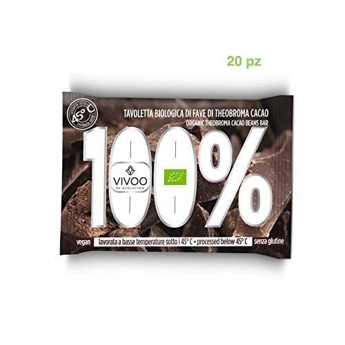 VIVOO RE-EVOLUTION | CIOCCOLATO BIO FONDENTE 100% | Confezione da 20 tavolette x 30 g cad.