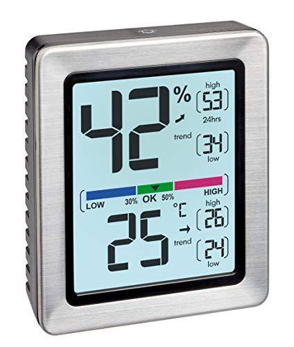 TFA Dostmann EXACTO Digitales Thermo-Hygrometer,  30.5047.54, Luftfeuchtigkeit, Temperatur, gesundes Wohnklima, besonders genau mit Präzisionssensor