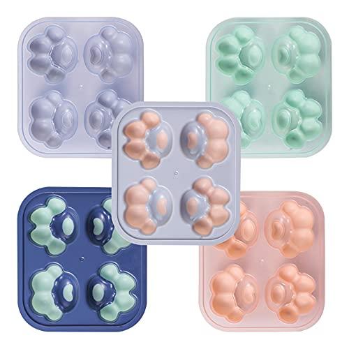 Molde de cubitos de hielo máquina de hielo bandeja de hielo de silicona congelador rápido caja de hielo herramientas de molienda de bolas de hielo congeladas caseras (Color:5 packs (mixed color pack))