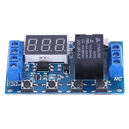 Módulo de relevo Interruptor de CC 6V ~ 30V de activación de retardo de encendido / apagado del temporizador Ciclo Módulo de relé W / dígito Pantalla LED USB micro ciclo del temporizador del relé de c