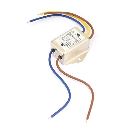 CW1B-10A-L Filtro monofásico Filtros de interferencia electromagnética de potencia de EMI Filtros 125 / 250v