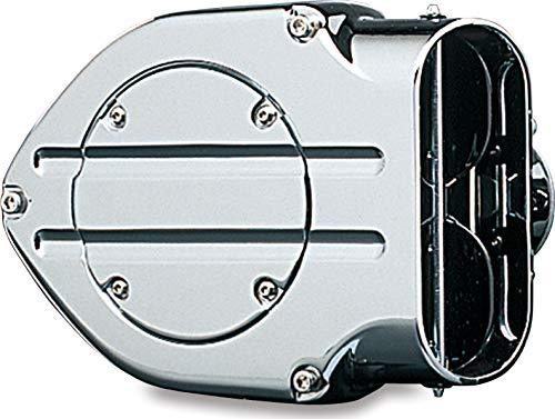Kuryakyn 9970 Hypercharger Luftreiniger / Filter mit Blutrille Design Falltür für 2008-17 Harley-Davidson Motorräder, Chrom
