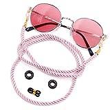 Kalevel Eyeglass Chains for Women Pink Glasses Lanyard Holder Strap Sunglasses Strap Eyewear Retainer