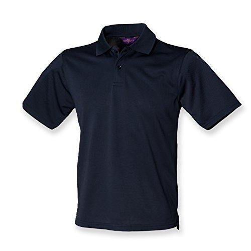 Henbury Coolplus Polo piqué pour homme Bleu marine Taille L