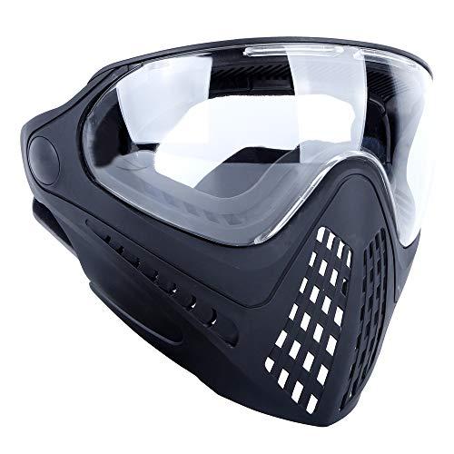 OAREA - Maschera integrale per casco tattico Airsoft, con occhiali protettivi sostituibili e connettore per casco