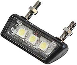 Progress Line Forty - Iluminación led para matrículas de moto (ABS, 3 ledes SMD, 42 x 10 x 17 mm, homologación marca E), color negro