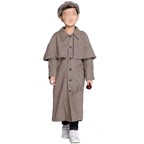 ZJYSM Adult Boy Halloween Costume Cosplay Sherlock Holmes Family Pack Stage Costume 01 (Color : Child, Size : XL)