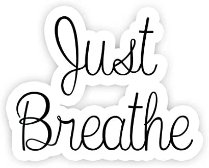 Just Breathe Inspirational Quote Stickers 2 5 Vinyl Decal Laptop Decor Window Vinyl Decal Sticker product image