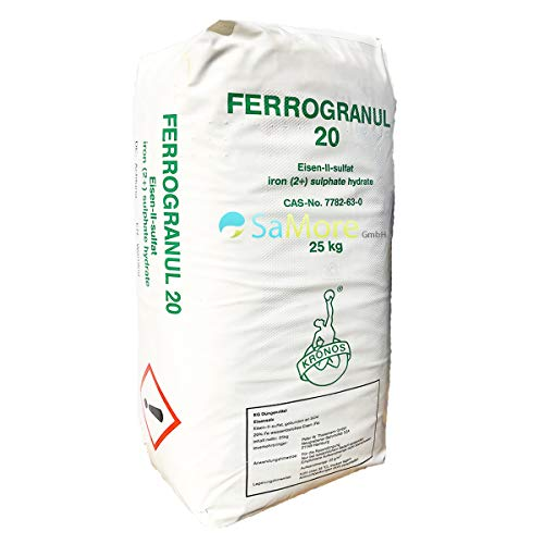 Eisendünger Eisensulfat 25 kg als Rasendünger für einen besonders grünen Rasen zum Streuen mit dem Streuwagen oder Gießen - kein Pflanzenschutzmittel