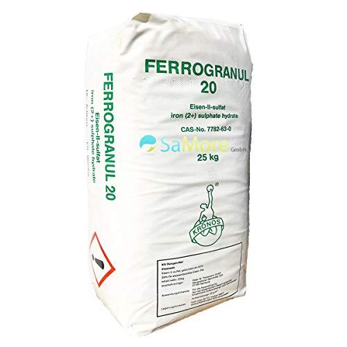 Eisendünger Eisensulfat 25 kg als Rasendünger für einen besonders grünen Rasen zum Streuen mit dem Streuwagen oder Gießen - kein Pflanzenschutzmittel Versand mit DHL