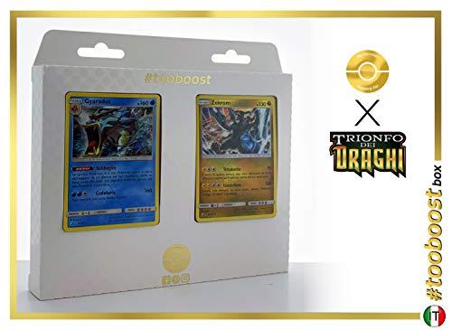 Gyarados 20/70 Holo E Hydreigon 33/70 Holo #tooboost X sol E & Luna 7.5 Trionfo dei Draghi - Box di 10 Carte Pokémon Italiene + 1 Goodie Pokémon
