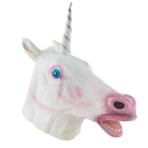 The Twiddlers Máscara de Cabeza Unicornio de Latex Fiestas de Disfraces de Halloween - Eventos - Carnavales - Disfraz