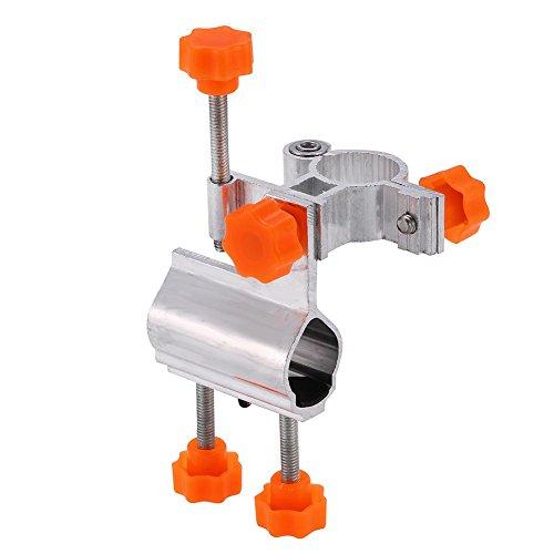 Alomejor Angelrutenhalter Verstellbare Aluminiumlegierung Angeln Stuhl Halterung Tackle Zubehör für Meer Fluss Pool Angeln Werkzeug(Orange)