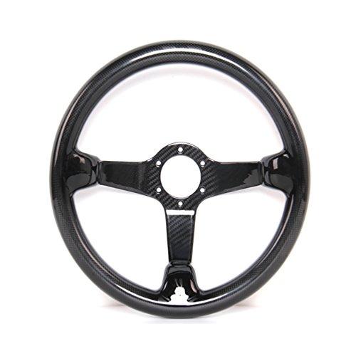 HIWOWSPORT Carbon Fiber Racing Steering Wheel 300mm Diameter Bolt
