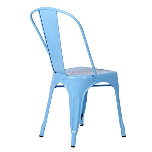 lo+demoda Terek Silla, Acero, Azul, 78.5x58x64 cm, 2 Unidades